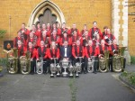 The Virtuosi GUS Band outside St Andrew's Church in 2007