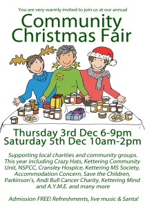 Christmas Fair 2015 Poster A5 portrait