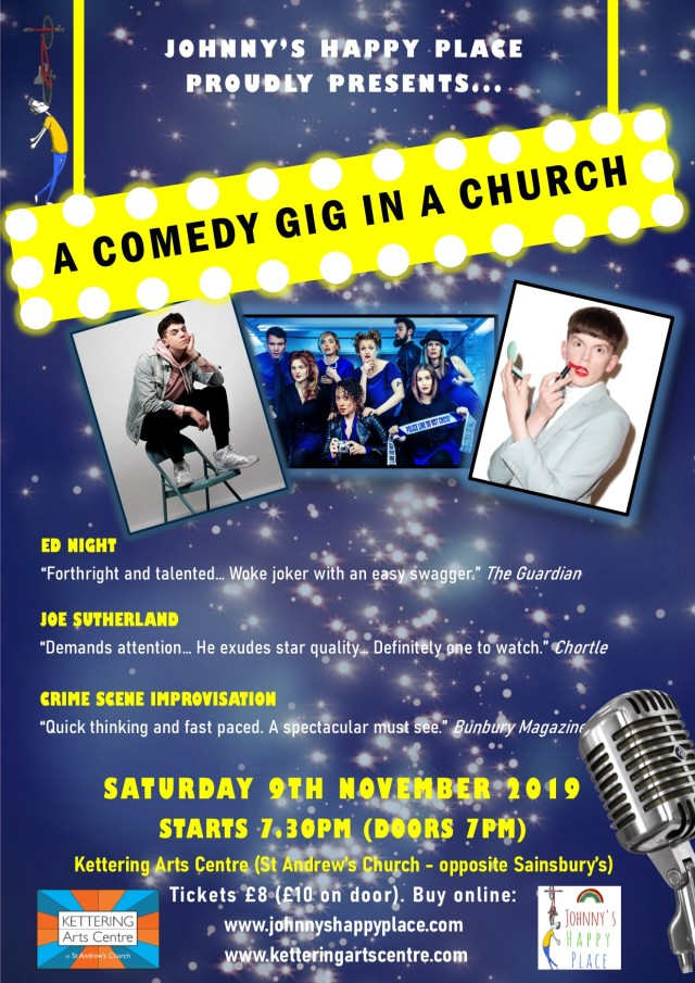Comedy gig IN A CHURCH